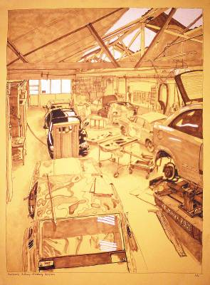 Croquis de garages Garage Anthony