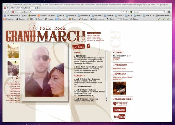 Grand march Page XHTML dynamique